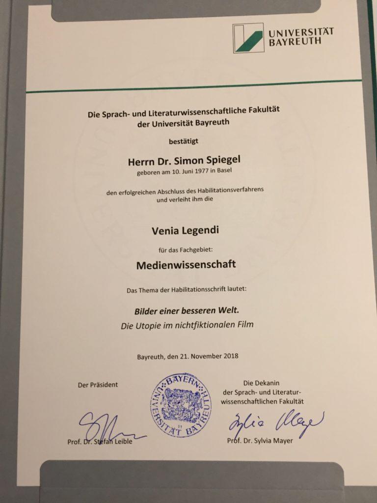 Habil-Urkunde